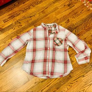 VS Tartan Plaid Button Down Top